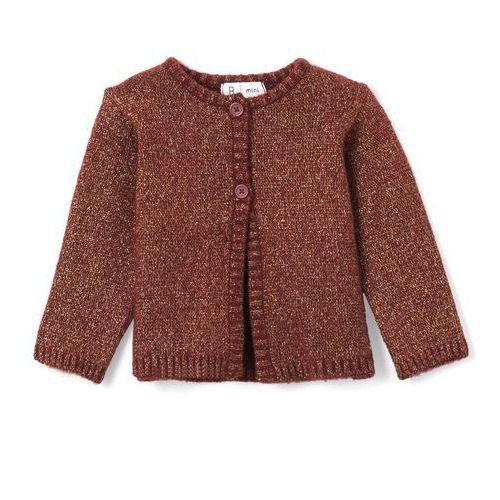La redoute collections Sweter rozpinany z dzianiny z połyskiem 1 miesiąc - 3 lata