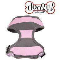 Doogy klasyczne i wygodne szelki dla psa, różowo-szare (3700380345377)
