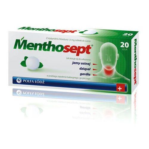 Polfa łódź Menthosept x 20 tabletek do ssania