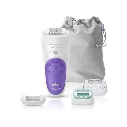 depilator silk-pil 5 5/880 sensosmart, do użytku na mokro i sucho, 5 nasadek marki Braun