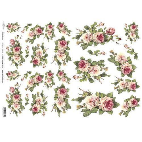 Papier do decoupage A3 ITD 446 róże romantyczne x1