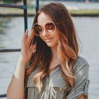 Okulary damskie okrągłe przeciwsłoneczne muchy