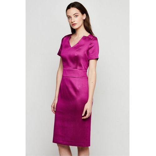 e3f874fe58 Zobacz ofertę Amarantowa sukienka z jedwabiem - Patrizia Aryton