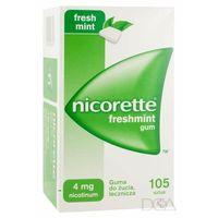 Pastylki Nicorette Freshmint Gum, guma do żucia, 4 mg, 105 szt