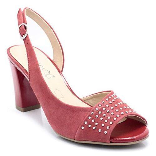 9-28305-20 czerwone - sandałki, skóra marki Caprice
