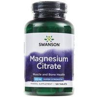 Tabletki Swanson Ultra Cytrynian Magnezu 225mg - 120 tabletek