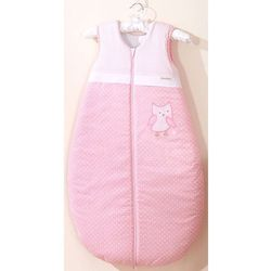 MAMO-TATO Śpiworek dziecięcy haftowany Sówki uszatki różowe 86-110, kolor różowy