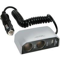 CarPoint HUB 2x 12 V z wyjściem USB (8711293085309)