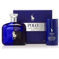 Ralph Lauren Polo Blue, Zestaw podarunkowy, woda toaletowa 125ml + dezodorant w sztyfcie 75ml