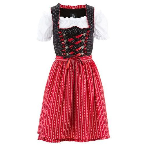 b1983571fd Sukienka ludowa z bluzką i fartuchem