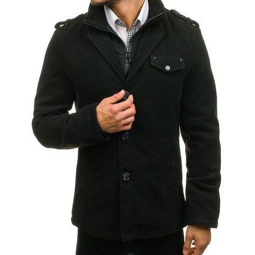 Płaszcz męski czarny Denley 8853A, kolor czarny