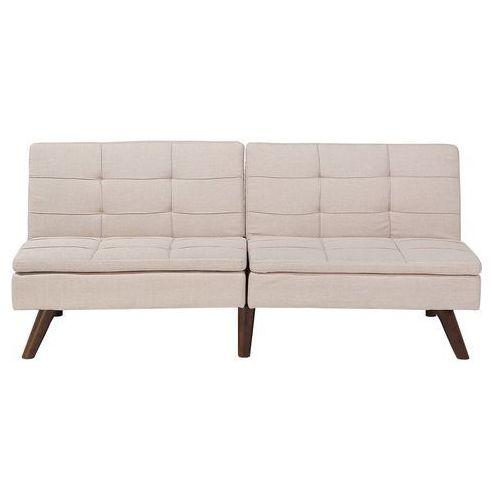 Sofa Z Funkcją Spania Beżowa Kanapa Rozkładana Wersalka Ronne Kolor Beżowy Beliani