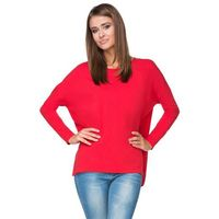 Czerwona bluza z dłuższym tyłem