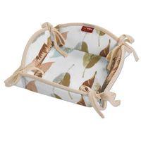 Dekoria  koszyk na pieczywo, kolorowe liście na białym tle, 20x20 cm, urban jungle