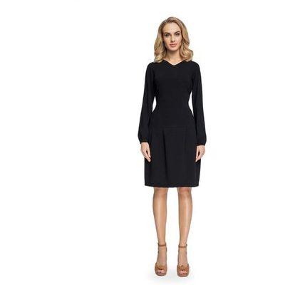 2b6c916f41 Rozkloszowana Sukienka z Delikatnym Dekoltem