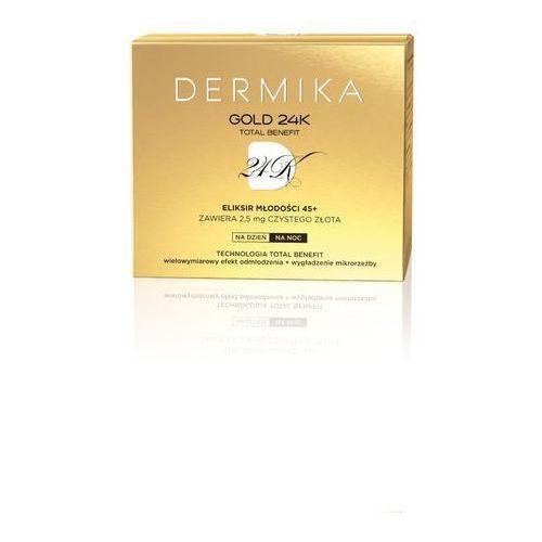 Dermika Gold 24k Total Benefit luksusowy krem odmładzający 45+ (24k Gold Refraction, Wrinkles Filled in from Inside) 50 ml