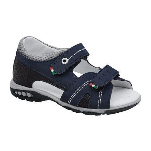 Sandałki dla chłopca KORNECKI 6313 C.Granatowe, kolor niebieski
