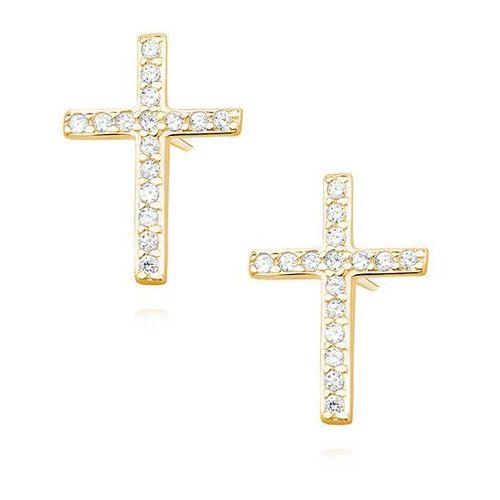 Srebrne kolczyki krzyże