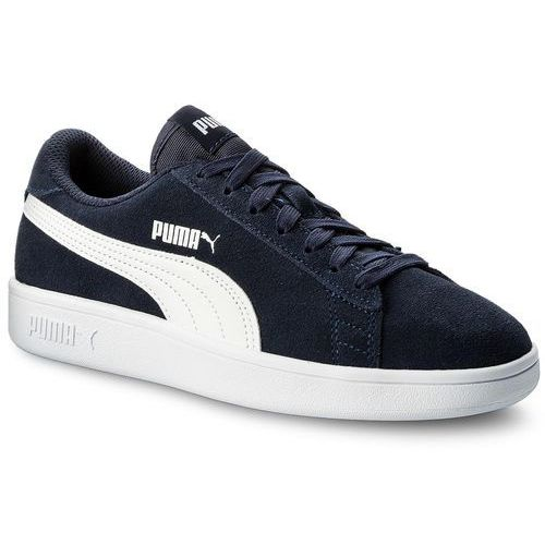 Sneakersy Smash V2 Sd Jr 365176 02 Peacoat White, kolor niebieski (Puma)