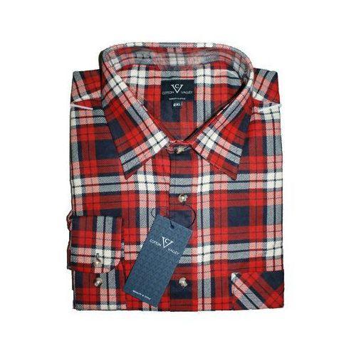 Koszula flanelowa z długim rękawem kratka czerwona, Cotton valley - 1