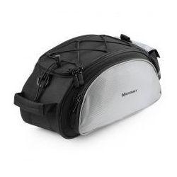 Wozinsky torba rowerowa na bagażnik z paskiem na ramię 13L czarny (WBB1BK)