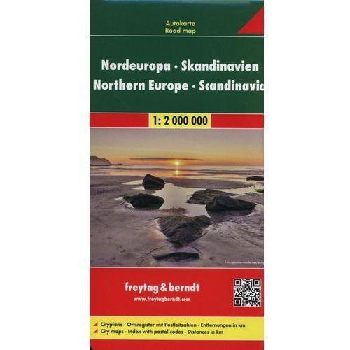 Skandynawia. Północna Europa. Mapa samochodowa, składana 1:2 000 000. Freytag&Berndt (9783707907544)