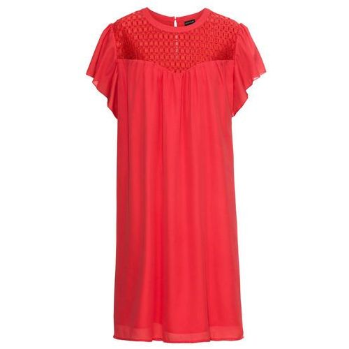 Sukienka midi z szyfonu, ze sztrasami bonprix ciemny lila, w 4 rozmiarach