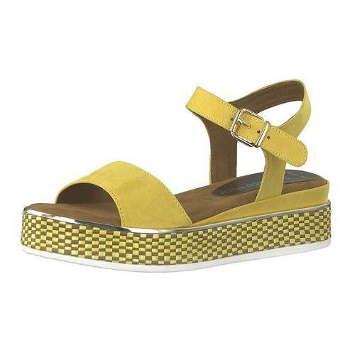 Marco tozzi sandały z rzemykami żółty