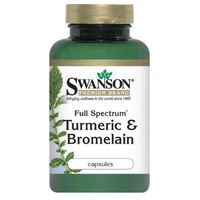 Kapsułki Swanson Full Spectrum Turmeric & Bromelaina 60 kaps. (data ważności 31/11/2015)