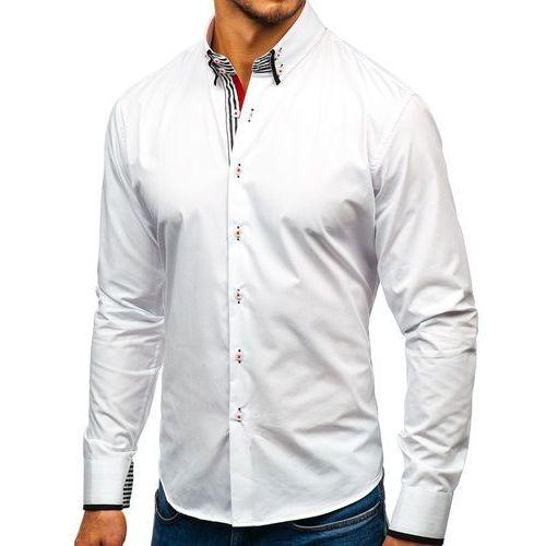 ee911d5f9626a2 ... Bolf Koszula męska elegancka z długim rękawem biało-czarna 1747 -  Galeria produktu ...