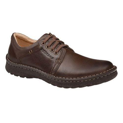 b27ec7ff ... Półbuty 1-0835-514+573 brąz czekolada sznurowane - brązowy marki Kacper  ...