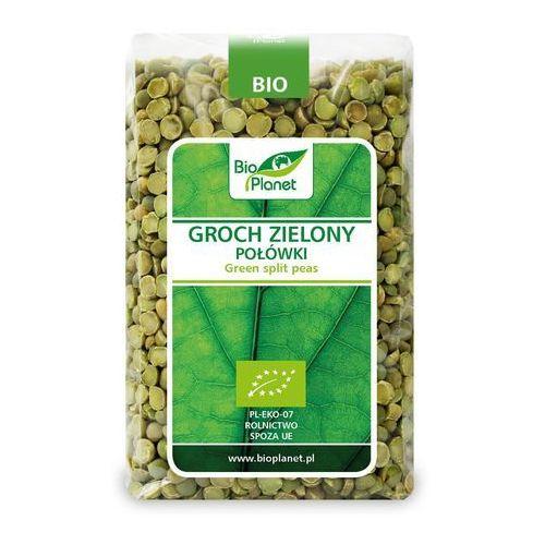 Groch zielony połówki bio 500 g - bio planet Bio planet - seria zielona (strączkowe)