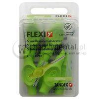 Tandex flexi 6szt. box 1.00-6.0mm (zielone) - pudełko 6 szczoteczek międzyzębowych stożkowych (tapered)