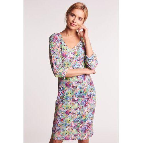 a7978b7212c203 Niebieska sukienka z koronką - , kolor niebieski (Topsi) - sklep ...