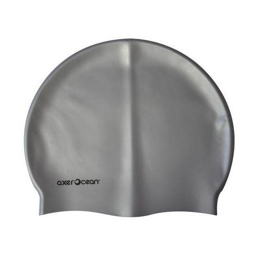 Axer ocean Czepek silikonowy pływacki dla dorosłych na basen - odcienie szarości i srebra