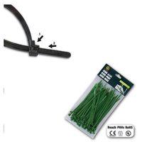 Bradas Opaski plastikowe 200x4,8 op 100szt rozpinana ziel