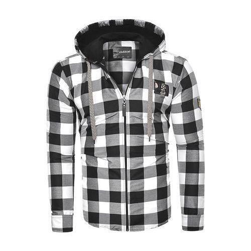 Męska bluza z kapturem rl60 czarna, z (Risardi)