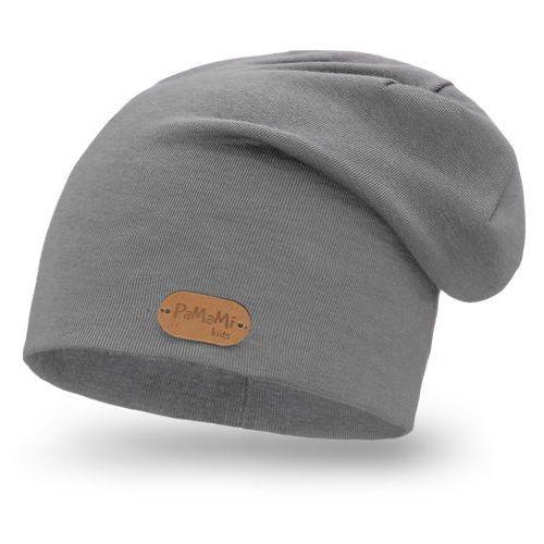 Wiosenna czapka - ciemnoszary - ciemnoszary marki Pamami