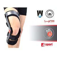Przednio tylna orteza szkieletowa na goleń i udo z regulacją zakresu ruchomości co 15 stopni raptor/1r marki 4sport