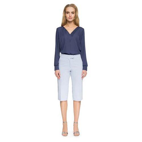 342635b73e Błękitne Eleganckie Spodnie do Kolan