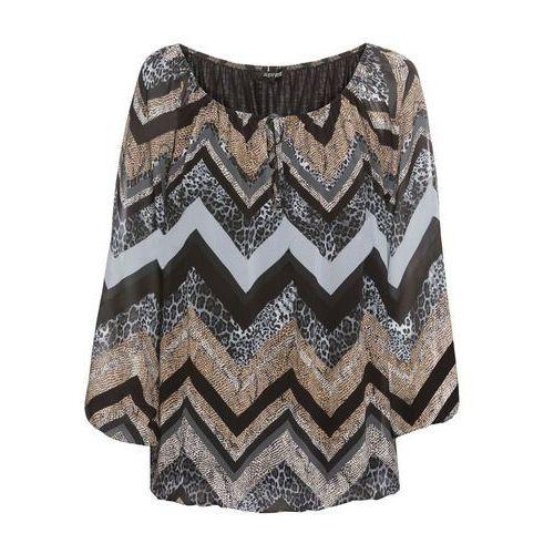 Shirt z haftem łososiowy jasnoróżowy - szary, Bonprix, 36-54