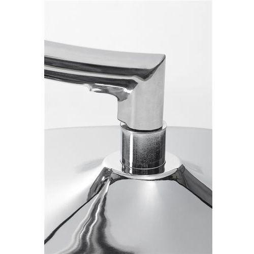 Fotel BUBBLE STAND poduszka szara - podstawa chrom, korpus akryl, poduszka wełna (5900168812291)