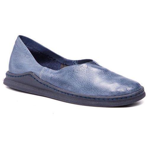 Półbuty MACIEJKA - 04078-17/00-0 Granat Na Jeans, kolor niebieski