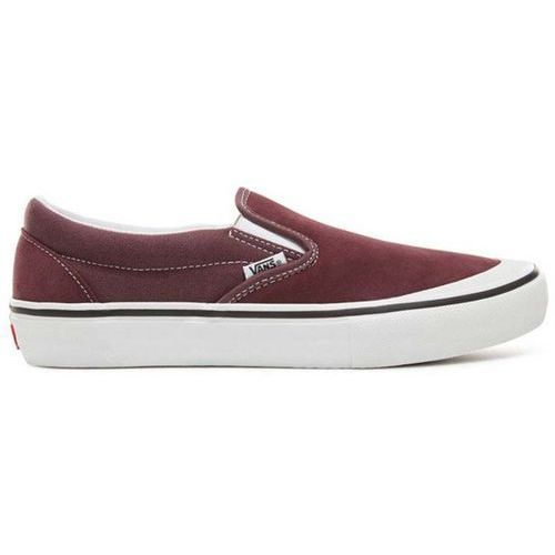 buty VANS - Slip-On Pro Raisin/White (U2C), kolor biały