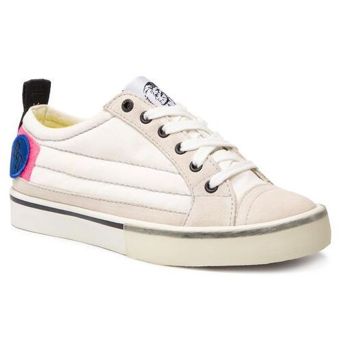 Tenisówki - d-velows low patch w y01922 p2283 h7102 star white/pink fluo marki Diesel