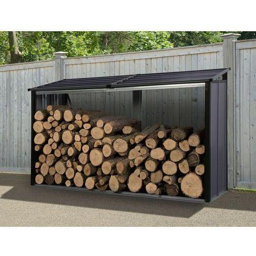 Stalowa drewutnia ogrodowa Firewood 2,4 x 0,6 m Arrow antracyt