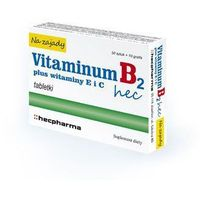 Tabletki VITAMINUM B2 HEC Na Zajady x 30 tabletek