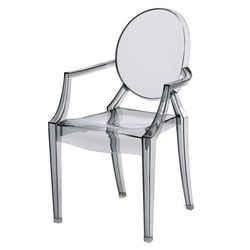 D2.design Krzesło dziecięce mini royal junior inspirowane louis ghost - szary ||transparentny