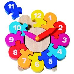 Zegar do nauki godzin - kwiatek