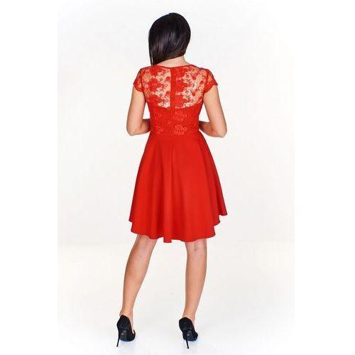 Wieczorowa sukienka z koronkową górą, w 5 rozmiarach